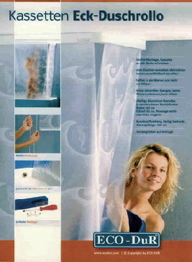 rohová sprchová roleta